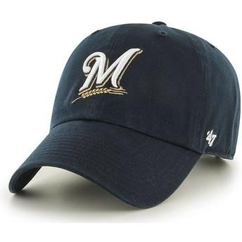 Casquette courbée bleue marine Milwaukee Brewers MLB Clean Up 47 Brand