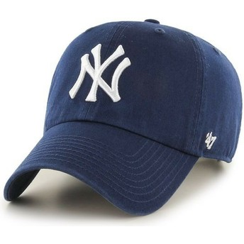 Casquette courbée bleue marine claire New York Yankees MLB Clean Up 47 Brand