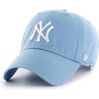 Casquette courbée bleue columbia New York Yankees MLB Clean Up 47 Brand