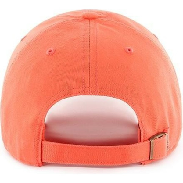 casquette-courbee-orange-pamplemousse-new-york-yankees-mlb-clean-up-47-brand