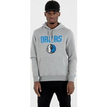 Sweat à capuche gris Pullover Hoody Dallas Mavericks NBA New Era