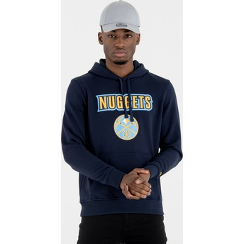 Sweat à capuche bleu marine Pullover Hoody Denver Nuggets NBA New Era