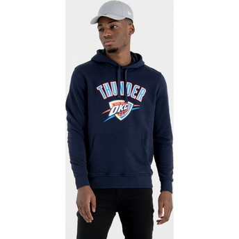 Sweat à capuche bleu marine Pullover Hoody Oklahoma City Thunder NBA New Era
