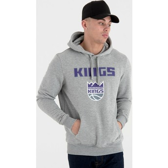 Sweat à capuche gris Pullover Hoody Sacramento Kings NBA New Era