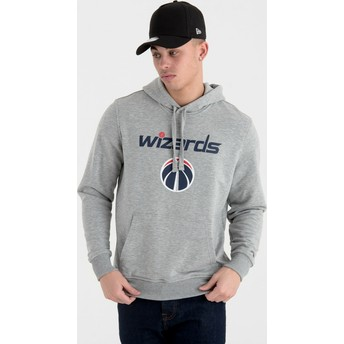 Sweat à capuche gris Pullover Hoody Washington Wizards NBA New Era