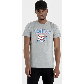 T-shirt à manche courte gris Oklahoma City Thunder NBA New Era