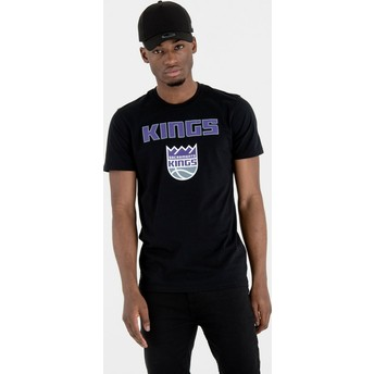 T-shirt à manche courte noir Sacramento Kings NBA New Era