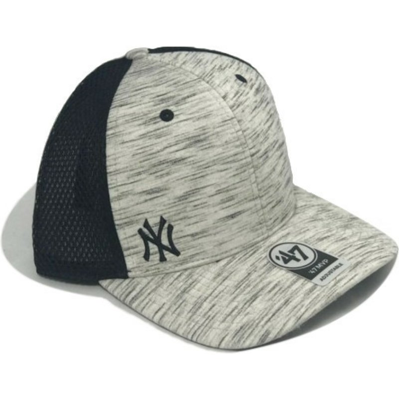 casquette-trucker-grise-effet-marbre-new-york-yankees-mlb-mvp-superset-47-brand