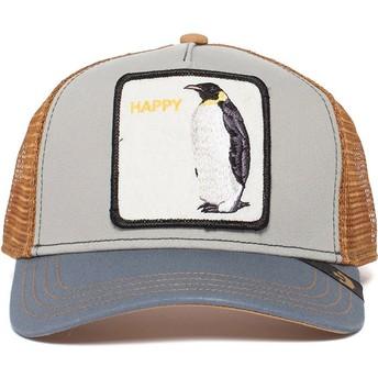 Casquette trucker grise pingouin Waddler Goorin Bros.