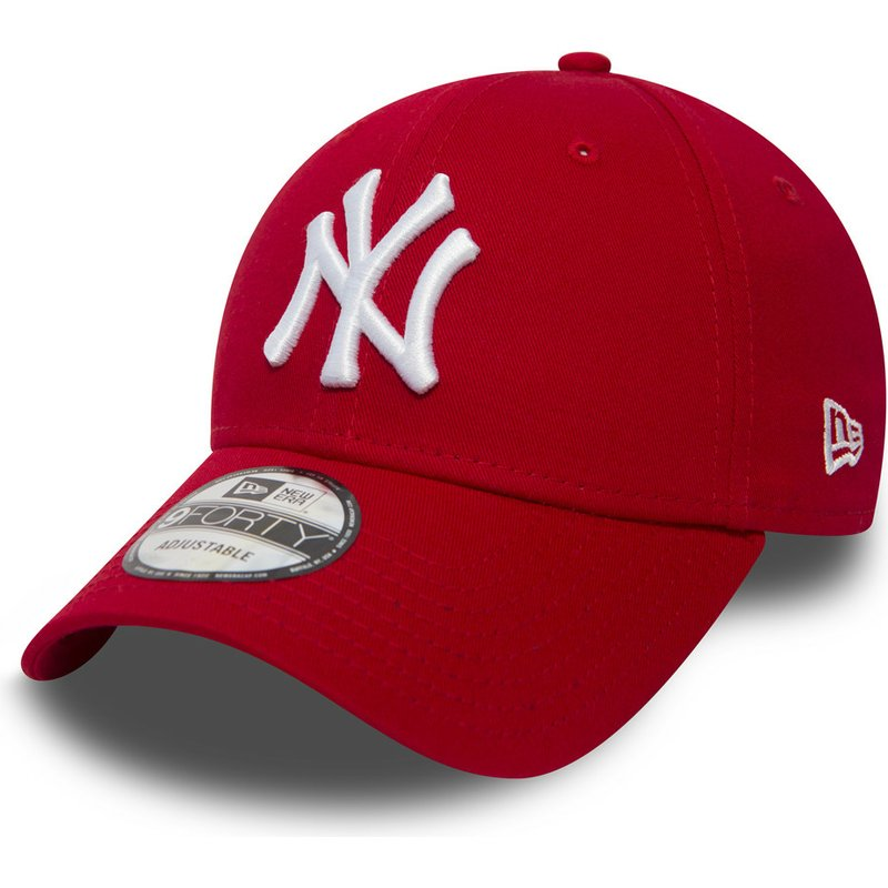 casquette courb e rouge ajustable 9forty essential new york yankees mlb new era acheter en. Black Bedroom Furniture Sets. Home Design Ideas