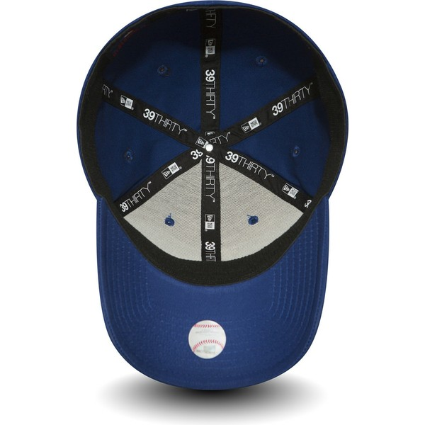 casquette-courbee-bleue-ajustee-39thirty-essential-los-angeles-dodgers-mlb-new-era