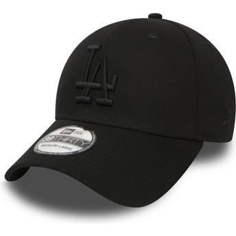 Casquette courbée noire ajustée avec logo noir 39THIRTY Essential Los Angeles Dodgers MLB New Era