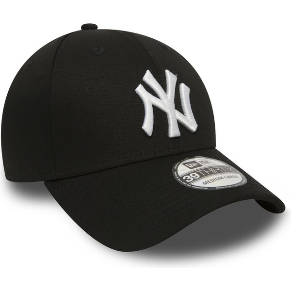 casquette-courbee-noire-ajustee-39thirty-classic-new-york-yankees-mlb-new-era