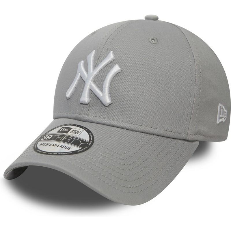 617b6d3ca5066 Gorra curva gris ajustada 39THIRTY Classic de New York Yankees MLB de New  Era