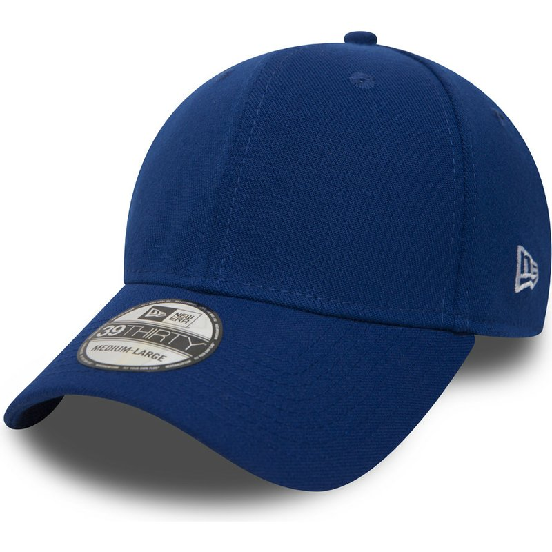 casquette-courbee-bleue-ajustee-39thirty-basic-flag-new-era