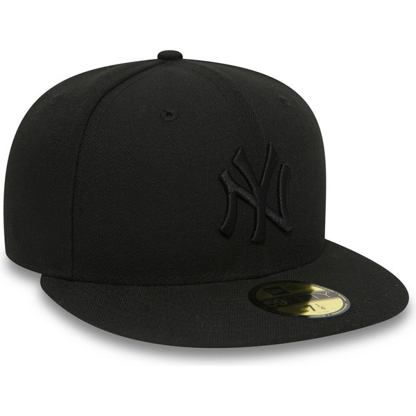 casquette-plate-noire-ajustee-59fifty-black-on-black-new-york-yankees-mlb-new-era