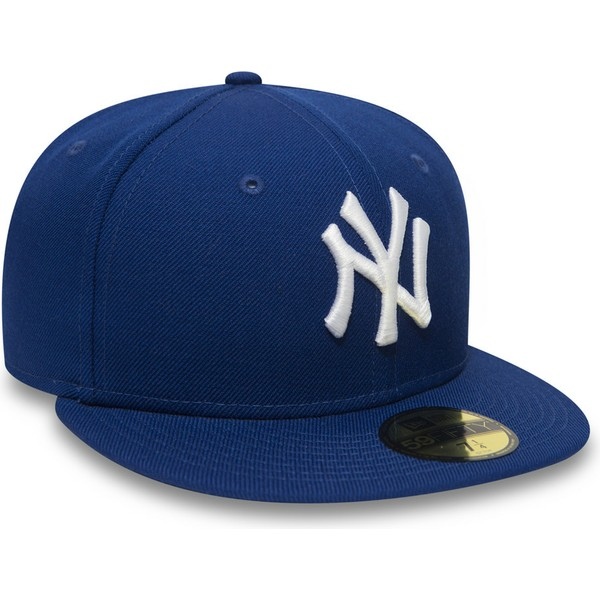 casquette-plate-bleue-ajustee-59fifty-essential-new-york-yankees-mlb-new-era