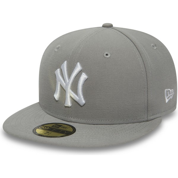 casquette-plate-grise-ajustee-avec-logo-blanc-59fifty-essential-new-york-yankees-mlb-new-era