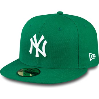 Casquette plate verte ajustée 59FIFTY Essential New York Yankees MLB New Era