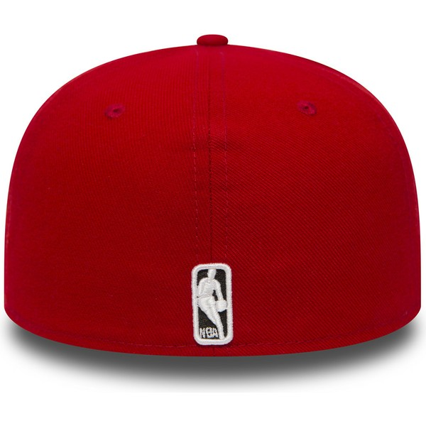casquette-plate-rouge-ajustee-59fifty-essential-chicago-bulls-nba-new-era