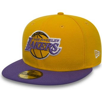 Casquette plate jaune ajustée 59FIFTY Essential Los Angeles Lakers NBA New Era