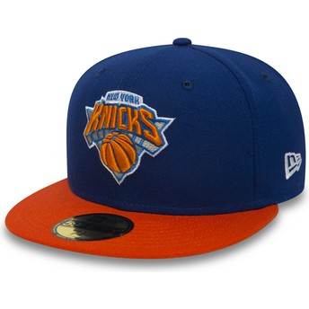 Casquette plate bleue ajustée 59FIFTY Essential New York Knicks NBA New Era