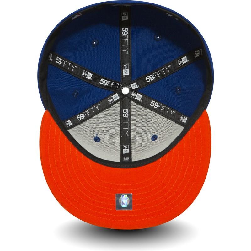 3f652cf4e1b0d ... casquette-plate-bleue-ajustee-59fifty-essential-new-york- · New Era