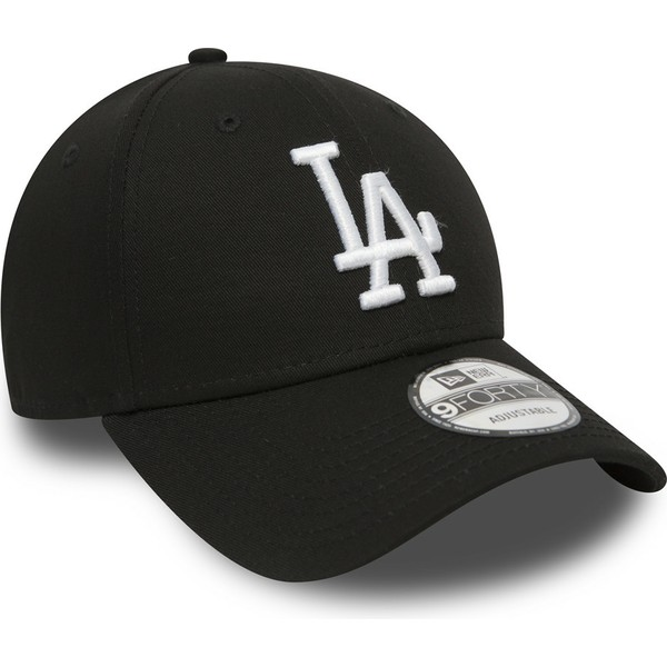 casquette-courbee-noire-ajustable-9forty-essential-los-angeles-dodgers-mlb-new-era