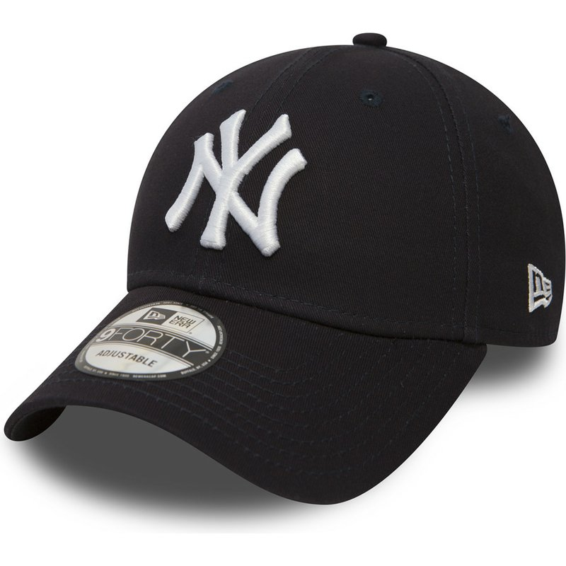 casquette-courbee-bleue-marine-ajustable-9forty-essential-new-york-yankees-mlb-new-era