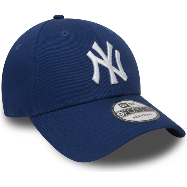 casquette-courbee-bleue-ajustable-9forty-essential-new-york-yankees-mlb-new-era
