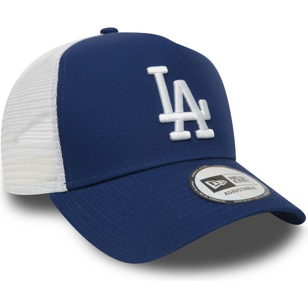 casquette-trucker-bleue-clean-a-frame-los-angeles-dodgers-mlb-new-era