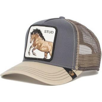 Casquette trucker grise cheval You Stud Goorin Bros.