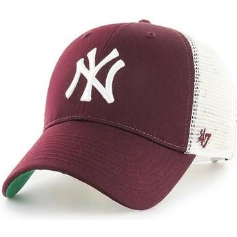 Casquette trucker grenat New York Yankees MLB MVP Branson 47 Brand