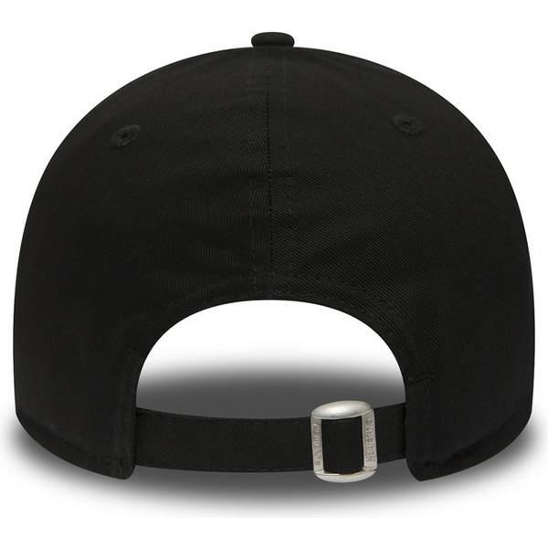 casquette-courbee-noire-ajustable-avec-logo-noir-9forty-essential-los-angeles-dodgers-mlb-new-era