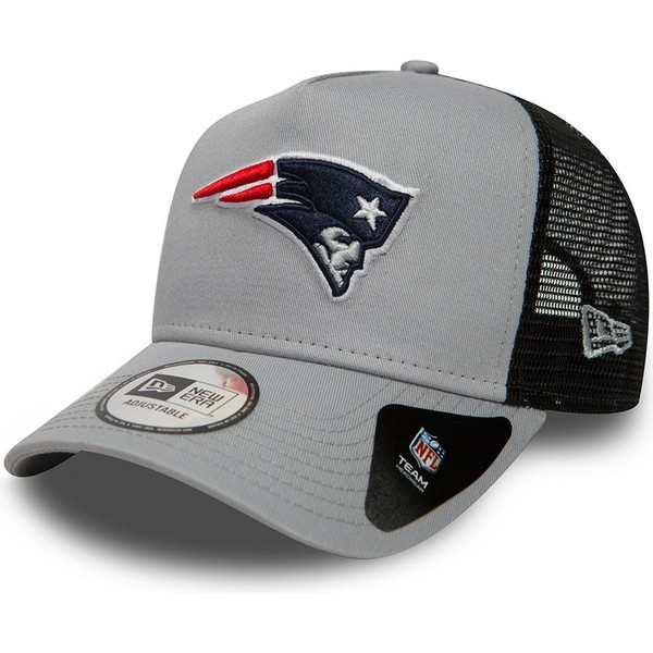casquette-trucker-grise-essential-a-frame-new-england-patriots-nfl-new-era