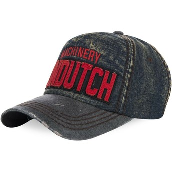 Casquette courbée bleue denim ajustable DONALD03 Von Dutch