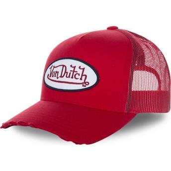 Casquette trucker rouge FRESH01 Von Dutch