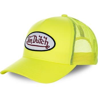 Casquette trucker jaune FRESH05 Von Dutch