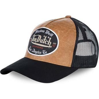Casquette trucker marron et noire GRL Von Dutch