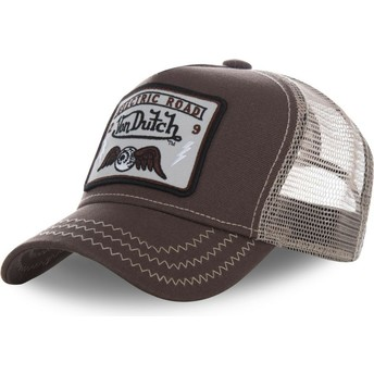 Casquette trucker marron SQUARE2B Von Dutch