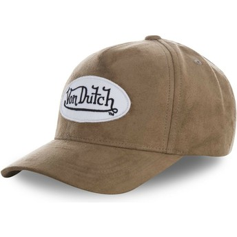 Casquette courbée marron ajustable SUEDE4 Von Dutch