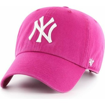 Casquette courbée rose orchidée New York Yankees MLB Clean Up 47 Brand