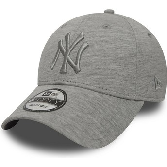 Casquette courbée grise ajustable avec logo grise New York Yankees MLB 9FORTY Essential New Era
