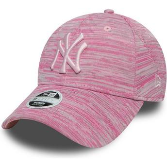 Casquette courbée rose ajustable avec logo rose New York Yankees MLB 9FORTY Engineered Fit New Era