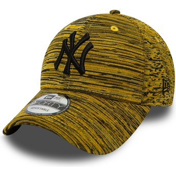 Casquette courbée jaune ajustable avec logo noir New York Yankees MLB 9FORTY Engineered Fit New Era