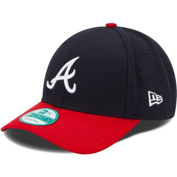 Casquette courbée bleue marine et rouge ajustable 9FORTY The League Atlanta Braves MLB New Era
