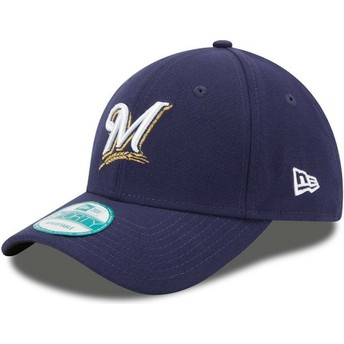 Casquette courbée bleue marine ajustable 9FORTY The League Milwaukee Brewers MLB New Era