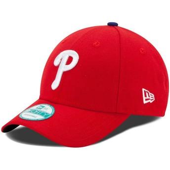 Casquette courbée rouge ajustable 9FORTY The League Philadelphia Phillies MLB New Era