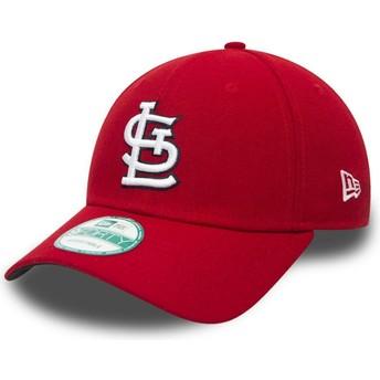 Casquette courbée rouge ajustable 9FORTY The League St. Louis Cardinals MLB New Era