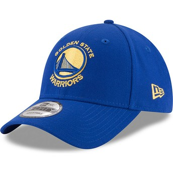 Casquette courbée bleue ajustable 9FORTY The League Golden State Warriors NBA New Era
